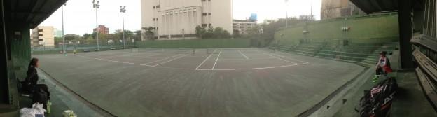 テニスコート(パノラマ)